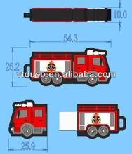 USB Pvc truck shape promo flash memory pens