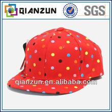 Custom Colorful spots 5 panel flat brim cap