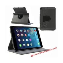 For iPad Mini 2 360 Case ! Fabric Texture 360 Rotation Degree Stand Folio Leather Case for iPad Mini 2 Tablet