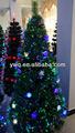 2014 mudando de cor rgb pré-lit fibra árvore de natal 8ft fibra árvore de natal do feriado tempo de fibra óptica de árvores de natal