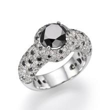 Black Diamond ring18k White/yellow Gold -Diamond Engagement ring, Cheapest black diamond ring India