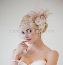latest handmade party/wedding sinamay fascinators feather fascinator clip
