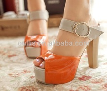 2014 stylish girls lace up platform shoes high heels CP6536