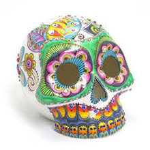 Muertos Skull Head Wholesale Piggy Bank Halloween Crafts