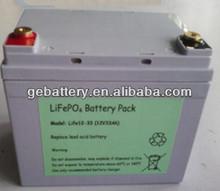 GEB 12v 33Ah battery packs for Golf cart, exchange lead acid to lithium battery