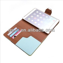 pu flip cover case for ipad air ipad 2/3/4 leather case wallet pattern with card slots