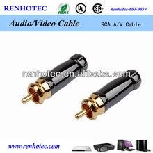 RCA plug connectors