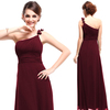 HE09596RD One Shoulder Red Flower Ruffles Chiffon NWT Party New Dress