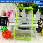Wholesale Price Transparent Bumper Case For iPhone 4 PC + TPU Bumper Case