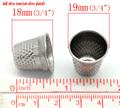 """30pc tono plata dedales de coser 19x18mm( 3/4"""" x3/4""""), de la moda"""