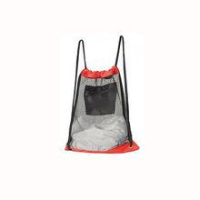 Mesh Drawstring Backpack with Zipper Pocket