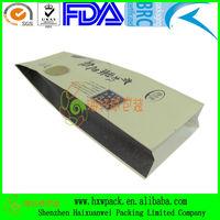 white kraft paper side gusset bag packaging
