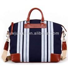 New china wholesale stripe man handbags female causal handbags lady case