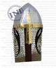 Norman Armor Helmet with Chain Mail , Norman armour helmet , Armor knight helmet