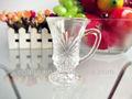 2014 novo e exclusivo design claro chá de vidro turco/tiro de vidro com puxadores 56ml/1.9oz( fábrica de vidro passaram fda/ue/sgs)