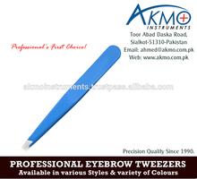 Professional Eyebrow Tweezers/ Wholesale Slanted Tips Tweezers for Eyebrow/ Eyebrow Tweezers