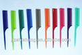 Cabeleireiro pente colorido, coloridos de plástico e pente de cauda