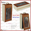 Luxury Leather Wine Box with Glasses(5158R5)