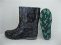 2015 moda mujer botas de lluvia del tobillo de arranque