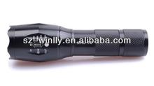 Factory Wholesale 10W XML-T6 Convex Mirror Streamlight 1000 Lumen LED Flashlight ZOOM Torch