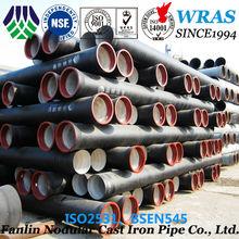 ISO2531 spigot & socket k9 portland cement lining DI pipes