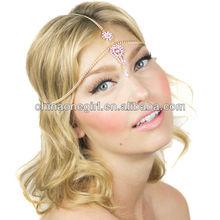 Crystal Beaded Prom Bridal Tikka Headpiece Headband