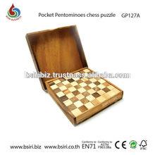 bolsillo de ajedrez pentomino jigsaw puzzle juegos de tablero