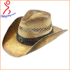 Custom Cheap Natural Grass Cowboy Hat With Print Logo