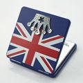 coroa e padrão da bandeira de lembrança personalizada praça espelho compacto