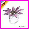 Alibaba 2014 moda anel de dedo anéis de fotos, sexy flor de diamante anel de dedo projetos para as mulheres