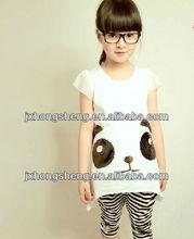 100% cotton custom printing girl's t-shirt shourt sleeve round neck t-shirt for children