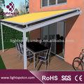 Lager impermeável telhado pergolado toldos de alumínio retrátil telhado pergolado toldos guarda-sol telhado pergolado toldos
