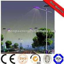 160W photovoltaic IP66 solar street light pole with 5 years warranty