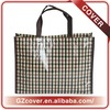 water-proof black stripe pattern non woven coated bags