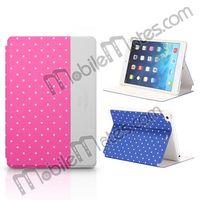 Kajsa Tri-fold Polka Dots Leather Case Cover for iPad Mini 2 Retina