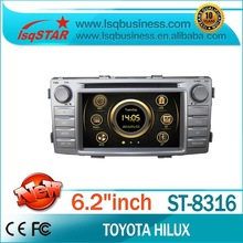 Good Quality 6.2 inch Car Audio Player For Toyota Hilux 2012 with Autoradio GPS Navigation 3G DTV DVD BT Phonebook Virtual 6-CD