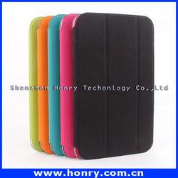 Hot sale! smart cover leather case factory price flip folding for ipad mini case