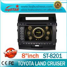 Car Audio Player For Toyota Land Cruiser 200 (2008-2010) with Autoradio GPS Navigation 3G DTV DVD BT Phonebook Virtual 6-CD