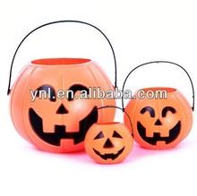 Halloween Accessories Pumpkin 18cm Portable Barrel Basket
