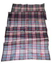 escocés pashmina mantón hecho en la india