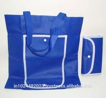 Long handle natural cotton shopping bag