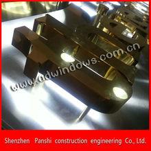 Company perfect golden titanium letter backlit LED channel letter sign