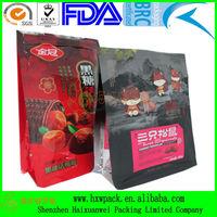 high quality eco-friendly side gusset flat bottom bag
