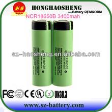 Factory price Original NCR 18650B 3400mah protected Li-ion button top battery for Panasonic
