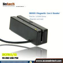 New product card reader 3-track 3 tracks msr/usb swipe magnetic card reader alibaba china