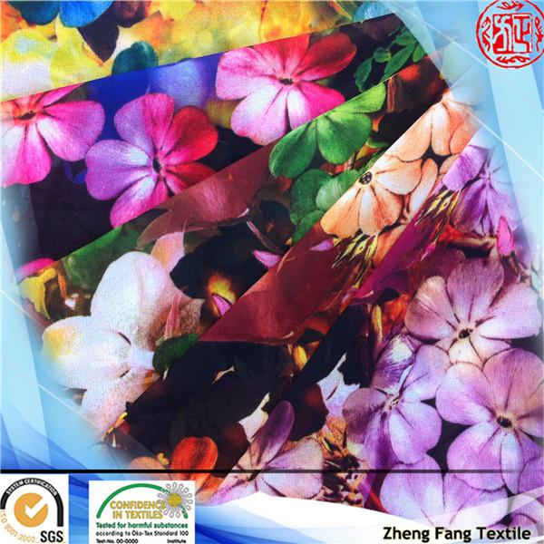 2014 new floral digital 100% polyester print custom silk chiffon scarf for women