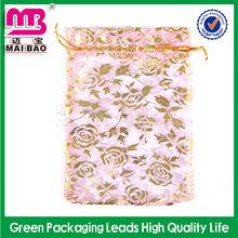 Handmake large organza drawstring tropical gift bags