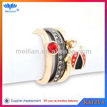 Gorgeous Wholesale Fashion Retro Electroplated Crystal Ring Set