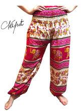 Wholesales Thai pants rayon printed harem plus size for women