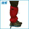 red waterproof leg gaiters for skiing
